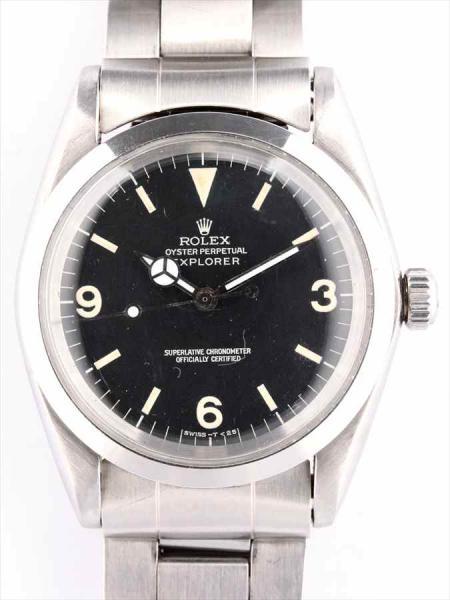 new concept 9fe81 37278 ロレックス エクスプローラーI Ref. 1016 黒文字盤 をお買取り ...