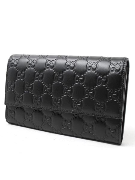 グッチ グッチシマ レザー二つ折り長財布