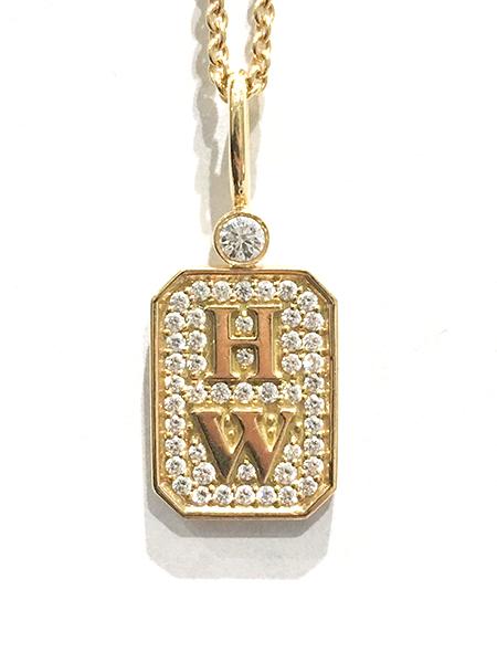 HWロゴ ダイヤネックレス 750